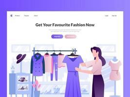 ilustração do cabeçalho do site de moda vetor