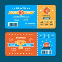 Vetor de bilhete de basquete