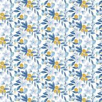 Vector Floral padrão sem emenda
