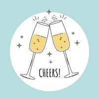 Brinde de champanhe vetor