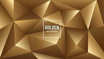 design moderno poligonal de luxo abstrato dourado. Padrão triangular 3D. você pode usar para capa, cartaz, banner, folheto, página de destino, anúncio impresso. ilustração vetorial vetor