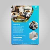 Ilustração em vetor moderno modelo de panfleto de negócios