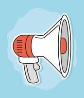 publicidade de promoção de megafone vetor