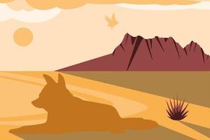 silhueta da águia do deserto vetor