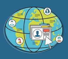 clique mundial de mídia social vetor