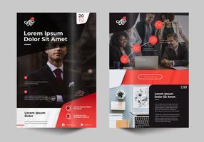Modelo de Design moderno profissional de negócios Flayer vetor
