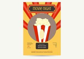 Ilustração do vetor do cartaz da noite de filme