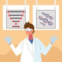 molécula de DNA de engenharia genética vetor
