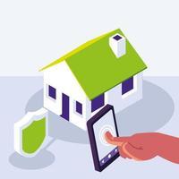 tecnologia de casa inteligente vetor