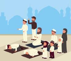 povo muçulmano tradicional vetor