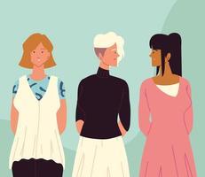 mulheres diferentes elegantes vetor