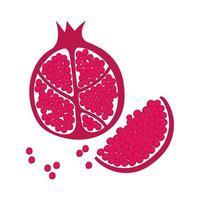 Ícone de frutas frescas de romã vetor