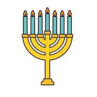 lustre com ícone isolado de velas vetor