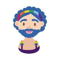 ícone do personagem orgulho lgbtq vetor