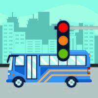 semáforo de ônibus vetor