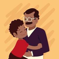 pai abraçando filho vetor