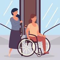 mulheres deficientes amputadas vetor