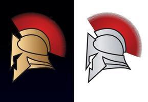 guerreiro romano com capacete espartano vetor