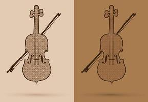 esboço de violino de luxo vetor
