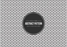 Fundo abstrato do teste padrão do estilo do tijolo de B / W vetor