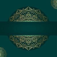 Fundo de mandala ornamental de luxo com padrão oriental islâmico árabe vetor