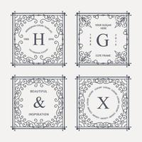 design de elementos de luxo monograma vetor