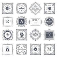 ornamentos caligráficos e molduras vintage vetor