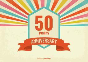 Estilo Retro Aniversário De Cinqüenta Anos De Ilustração Vetorial vetor