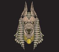 deus anubis guardião egípcio vetor