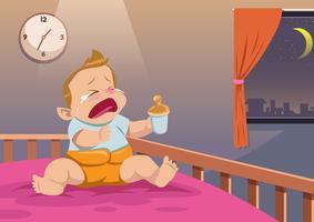 Bebé a chorar vetor