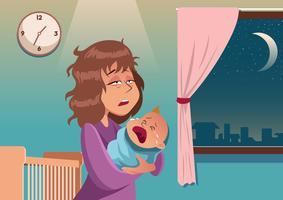 Bebê chorão vetor