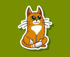 Gato E Cão Autocolantes vetor