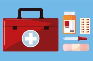 kit de remédios e drogas vetor