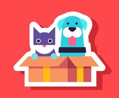 Gato E Cão Autocolantes