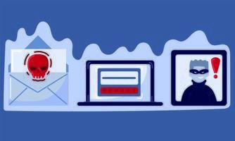 conjunto de crimes cibernéticos vetor
