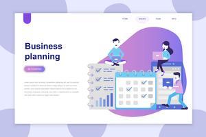 Conceito de design moderno plano de planejamento de negócios para o site e site móvel. Modelo de página de destino. Pode usar para banner web, infográficos, imagens de herói. Ilustração vetorial.