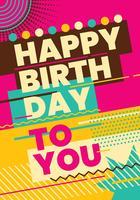 Cartão de aniversário vetor