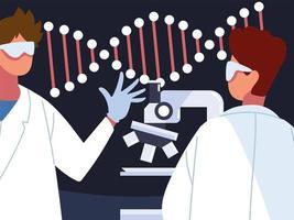 pesquisa de engenharia genética vetor