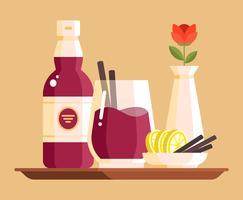 Ilustração de vinho quente