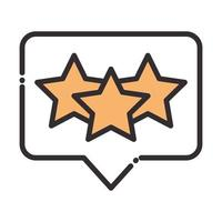 mídia social classificação favorita rede digital de internet comunicar linha de tecnologia e ícone de design de preenchimento vetor
