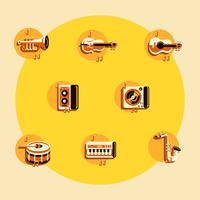 ícones de música knollings vetor