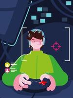 jogador usando controle vetor