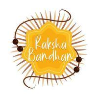 raksha bandhan pulseira tradicional indiana celebrando irmãos e irmãs vetor