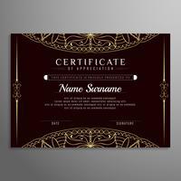 Fundo abstrato elegante certificado artístico vetor