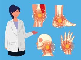 doença reumatologia médico vetor
