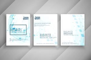 Conjunto de design de modelo de folheto empresarial moderno abstrato vetor
