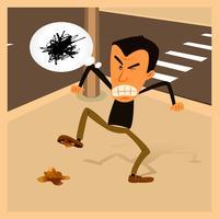 Angry Man - Vida Urbana vetor