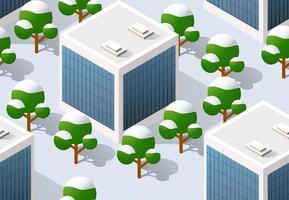 arquitetura ilustração vetorial cidade para repetição perfeita vetor