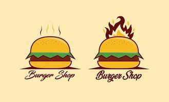 design de logotipo de hambúrguer vetor