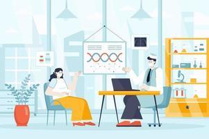 conceito de clínica médica em ilustração vetorial de design plano vetor